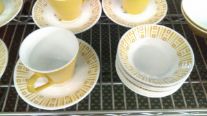 Syracuse China Amber Gold Cup & Saucer