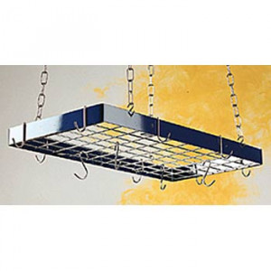 "White w/Chrome pot rack 30""x15"""