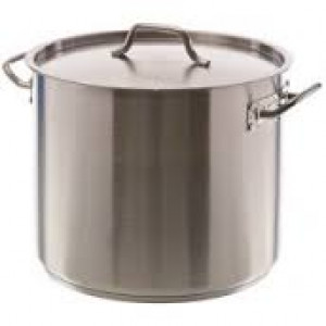 Stock pot, 40 qt with cover, S/S w/ clad bottom
