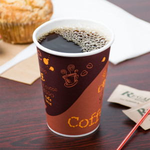 Hot cup, 12 oz, Paper 20pk/50, with Coffee Print