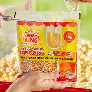 Popcorn portion pack for 6 oz poppers, 36/case