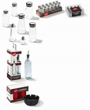 Salt & Pepper Shakers - 12ea/pk