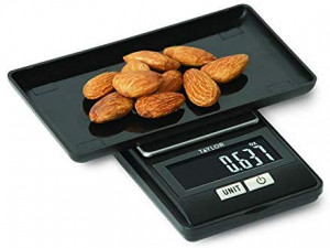 Compact digital scale 16 oz. capacity, black
