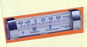 "4 7/8"" Freezer & Refrigerator Thermometer"