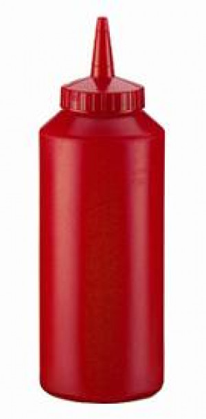 Squeeze bottle, 12 ounce red