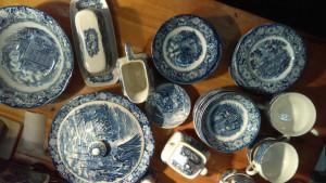 Liberty Blue Butter Dish