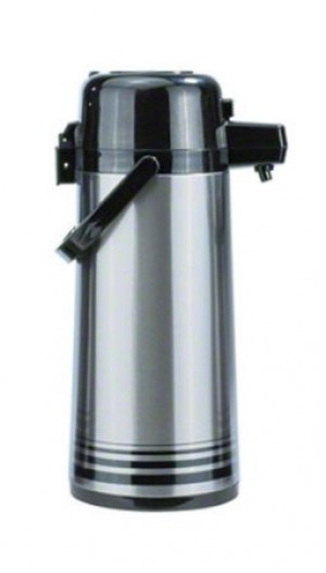 Airpot glass liner, 2.2L s/s with push button top