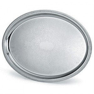 """Serving tray, 18/8 S/S, Oval, 16""""x11-5/8"""""""