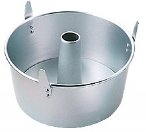 """10"""" Round angel food cake pan, removeable bottom"""
