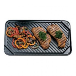 Double burner reversible nonstick griddle
