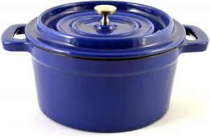 4.5 qt. round dutch oven, blue