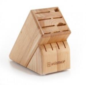 13 slot knife block, rubberwood