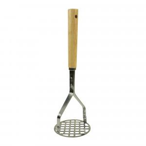 Potato masher, S/S w/ Wood handle