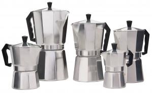 Espresso Maker- 12 cup Aluminum, Primula