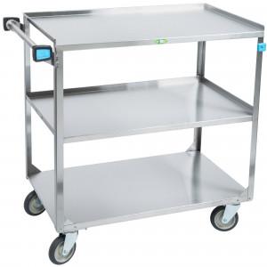 """Utility cart, 3 shelf, 21""""x35"""" shelf 500 lb cap."""