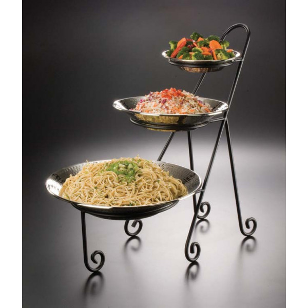 3 Tier Iron Stand, Holds (1)Cer5,(1)Cer7,(1)cer9