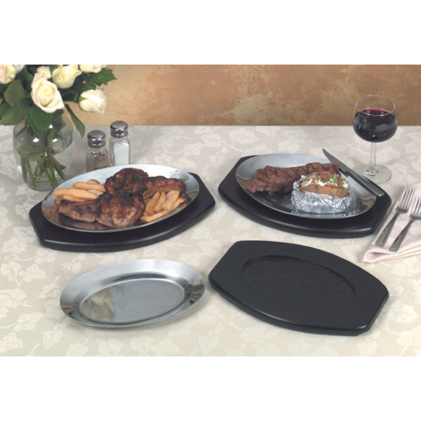 Sizzle platter underliner 11.5x8.25, Wood