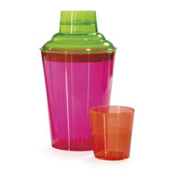 Neon Cocktail Shaker Set 17.5 ounce, plastic