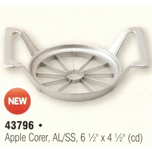 Apple corer & wedger 12 wedges, aluminum & s/s