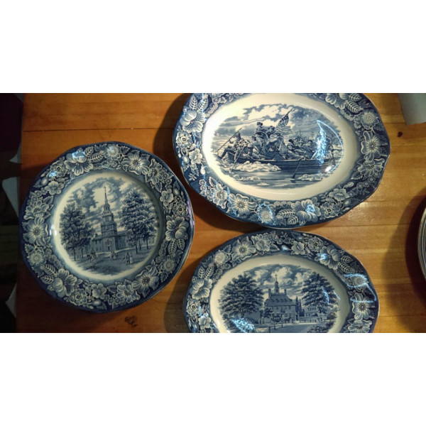 "Liberty Blue 10"" Dinner Plate"