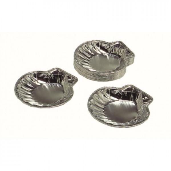 """Scallop foil 5"""" diameter 1-3/8"""" tall, 100 per pack"""